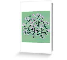 Cherry Blossoms and Birds Greeting Card