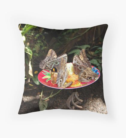 Lunch with Friends Throw Pillow