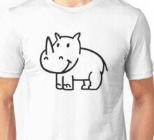 Comic rhino Unisex T-Shirt