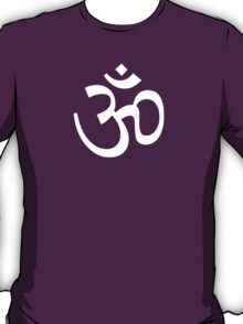 Om Ohm White T-Shirt