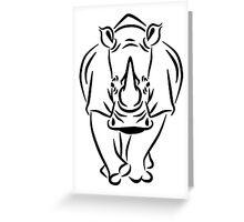 Walking rhino Greeting Card