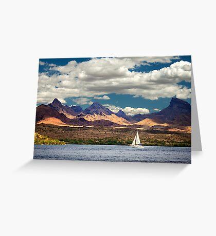 Sailing In Havasu Greeting Card