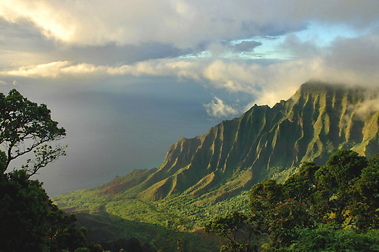 Kalalau Valley At Sunset by Stephen Vecchiotti