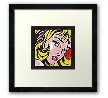 Lichtensteins Girl with blue ribbon  Framed Print