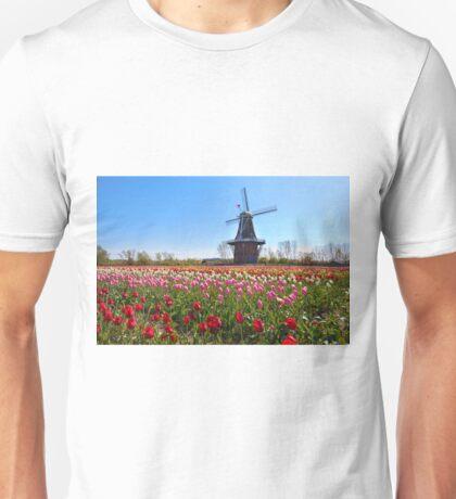 Wooden Windmill in Holland Michigan Unisex T-Shirt