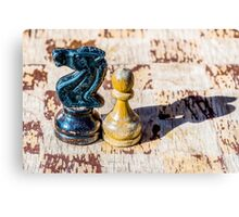 Chess Pawn and Knight - Veterans Canvas Print