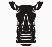 Black rhino head Kids Clothes
