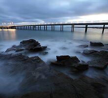 Lorne Pier Pre-Dawn, Great Ocean Road, Australia by Michael Boniwell