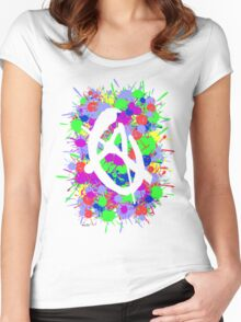 anarchy colourbomb Women's Fitted Scoop T-Shirt