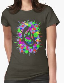 anarchy colourbomb Womens Fitted T-Shirt