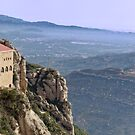 View from monastery at Montserrat by Steve