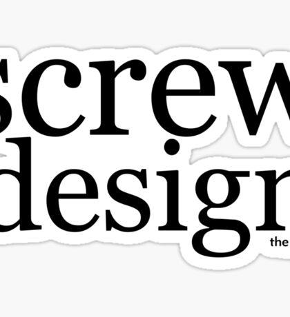 screw design Sticker