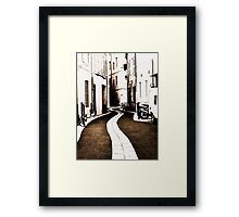 Old town streams Framed Print