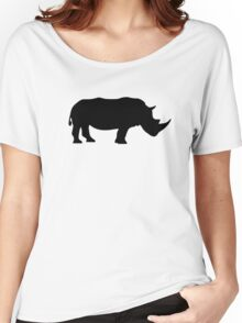 Black rhinoceros Women's Relaxed Fit T-Shirt