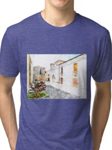 Agropoli: view square and old building Tri-blend T-Shirt
