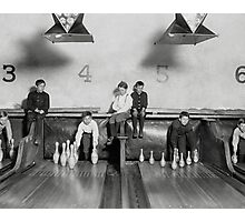 Arcade Bowling Alley, 1909 Photographic Print