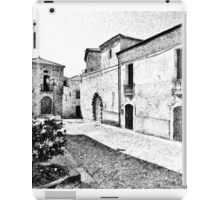 Agropoli: view square and old building iPad Case/Skin