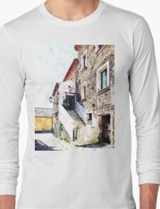 Agropoli: view old building Long Sleeve T-Shirt