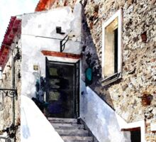 Agropoli: view old building Sticker