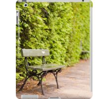 hedgerow and empty bench iPad Case/Skin