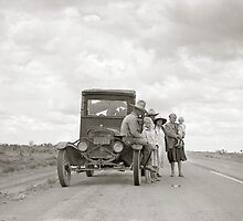 On The Road, 1937 by historyphoto