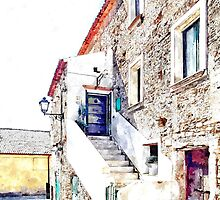 Agropoli: view old building by Giuseppe Cocco