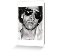 lenny kravitz...pencil Greeting Card