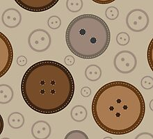 seamless brown  buttons pattern  by handik
