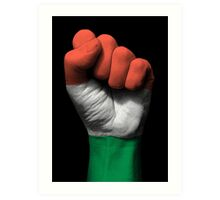 Flag of Hungary on a Raised Clenched Fist  Art Print