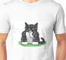 Kitten Holds Tightly to an Easter Egg Unisex T-Shirt