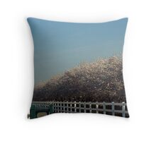 SPRING TIME ON THE ALMOND RANCH Throw Pillow