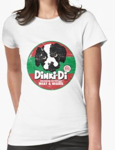 Dinki Di Dog Food Womens Fitted T-Shirt