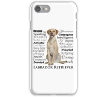 Yellow Lab Traits iPhone Case/Skin