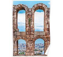 Ancient aqueduct panorama Poster