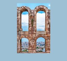 Ancient aqueduct panorama Unisex T-Shirt