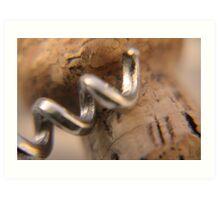 Cork screw Art Print