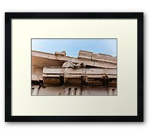 Parthenon pediment horses Framed Print