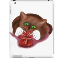 Kitten Attacks a Heart Shaped Box of Chocolates iPad Case/Skin