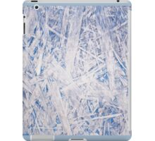 Blue chipboard texture abstract iPad Case/Skin