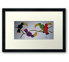 Community Stick Framed Print