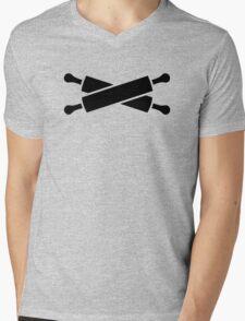 Crossed rolling pins Mens V-Neck T-Shirt