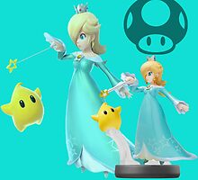 Rosalina And Luma smash bros amiibo t-shirt by TheMoulinGlacia