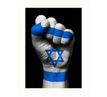 Flag of Israel on a Raised Clenched Fist  Art Print