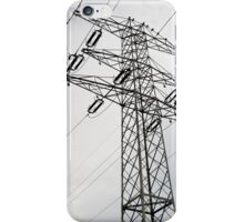 Electric power transmission iPhone Case/Skin