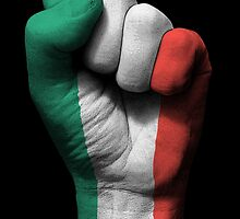 Flag of Italy on a Raised Clenched Fist  by Jeff Bartels
