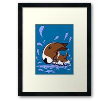 Bull Terrier Splash  Framed Print