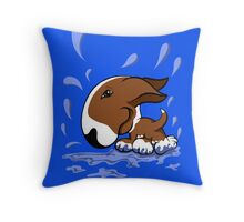 Bull Terrier Splash  Throw Pillow