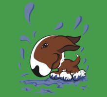 Bull Terrier Splash  Kids Tee