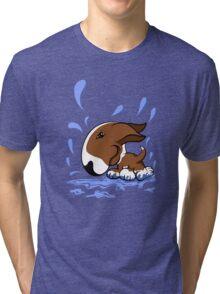 Bull Terrier Splash  Tri-blend T-Shirt