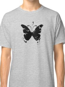 Butterfly silhouette grunge Classic T-Shirt